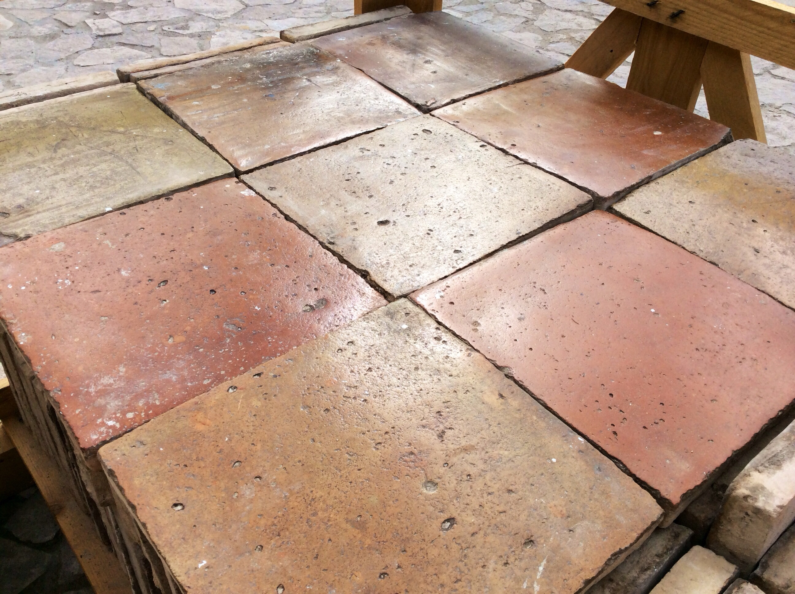 ANTIQUE RECLAIMED TERRACOTTA 13 X 13